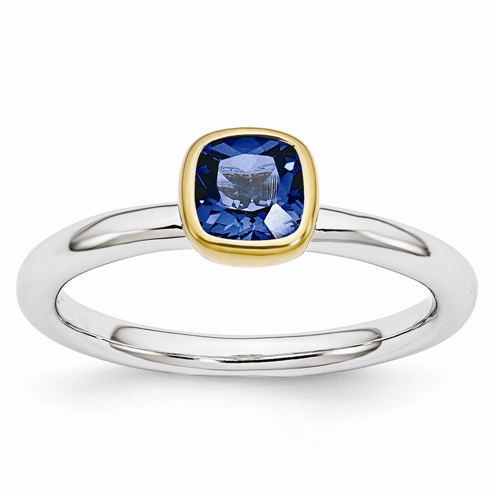 Stackable | Sapphire | Sterling | Silver | Ring | Size