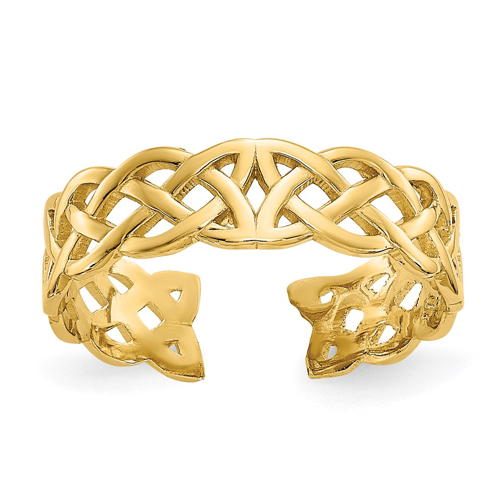 Celtic Knot 4mm Toe Ring in 14 Karat Gold