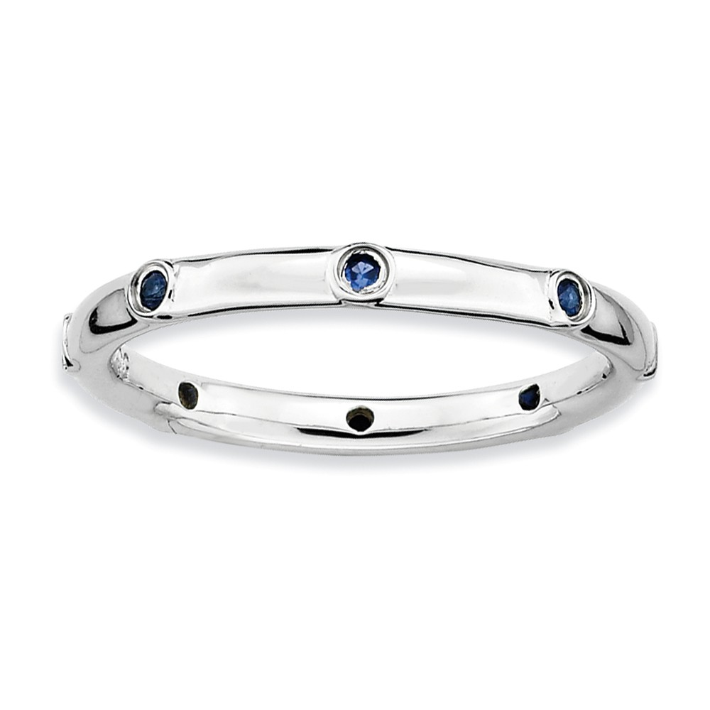 Stackable | Sapphire | Sterling | Accent | Silver | Size