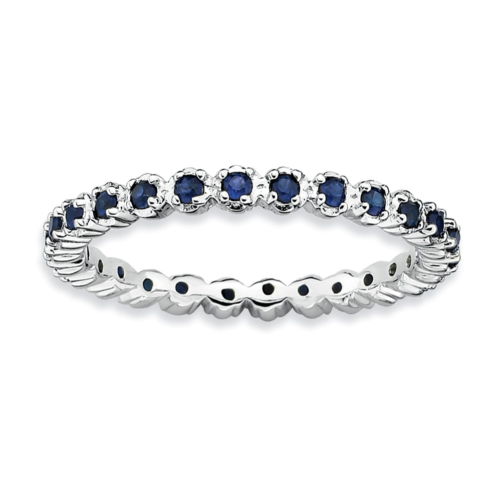 Stackable | Sapphire | Silver | Size