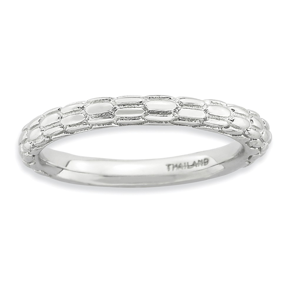 Stackable | Sterling | Silver | Skin | Size