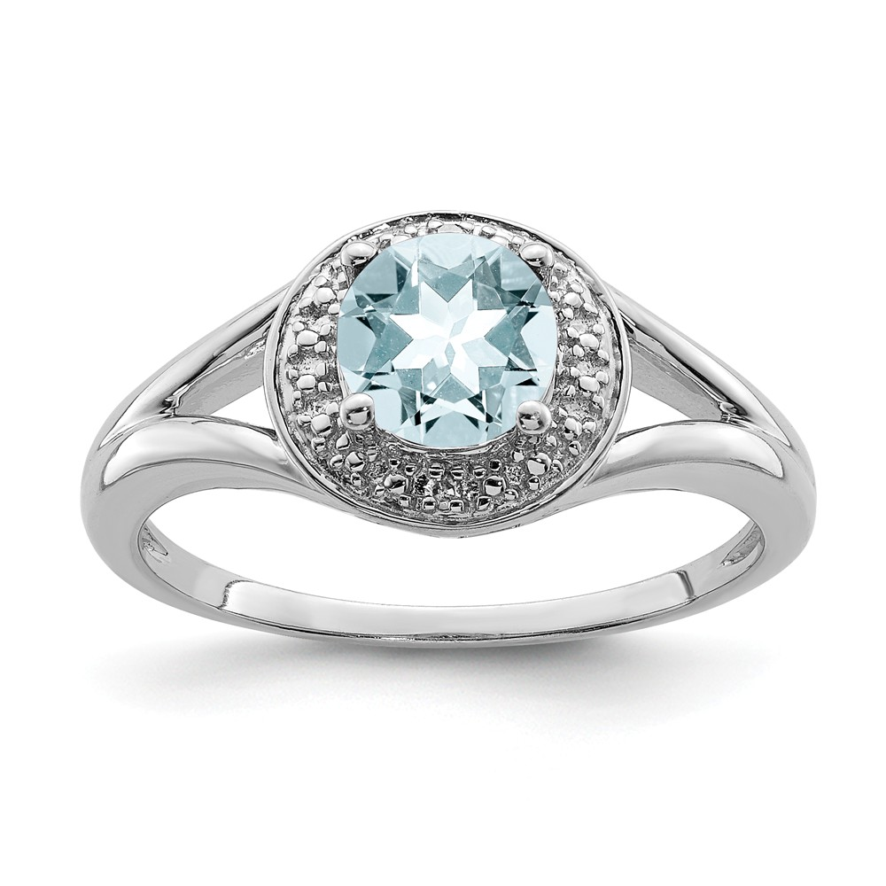 Sterling | Diamond | Silver | Round | Ring | Size