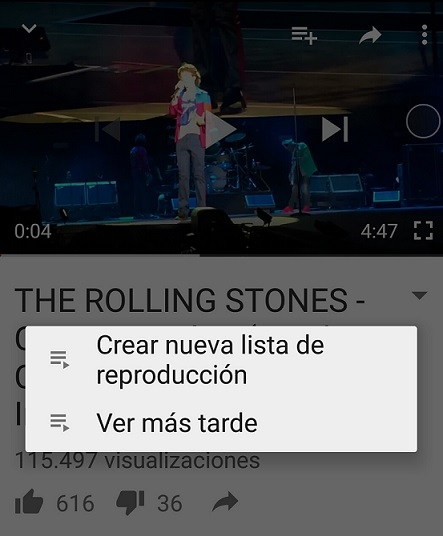 Guardar vídeos de YouTube
