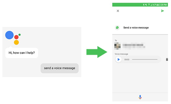 OK Google, send a voice message