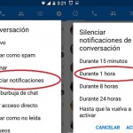 Desactivar las notificación de Facebook Messenger