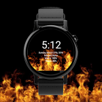 Revive your watchface with this smooth Live Fire Wallpaper