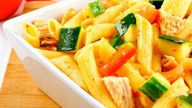 Photo of Salva la hora de la comida con una ensalada de pollo y pasta