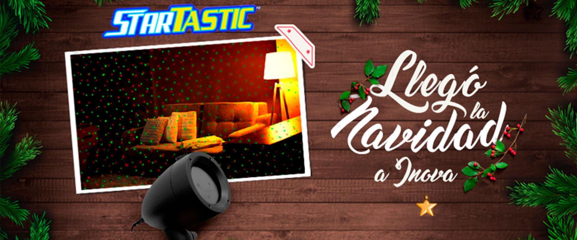 Luces láser Startastic para adornar esta Navidad.