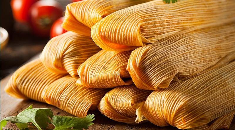 Imagen de tamales de varios sabores para el Día de la Candelaria.