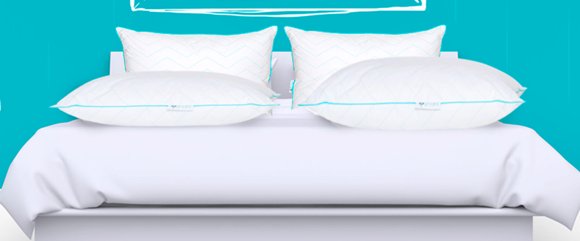 Imagen de una cama con Almohadas Sognare encima.