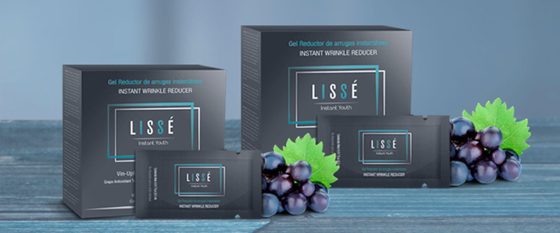 Varias cajas del producto de belleza LISSÉ, que ayuda a salir bien en las selfies.