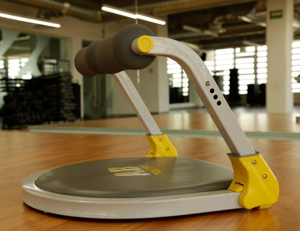 Ab Tomic es un aparato de ejercicio que viene completamente armado.