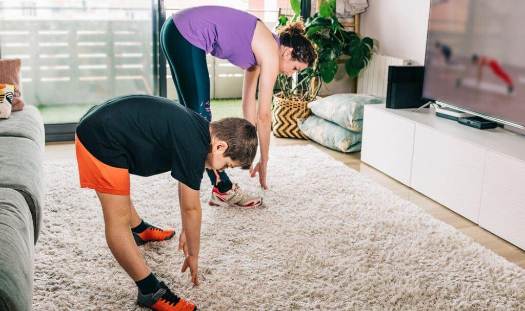 hacer ejercicio en familia aplicación
