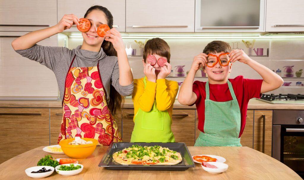 recetas de cocina para niños, niños ayudan a cocinar