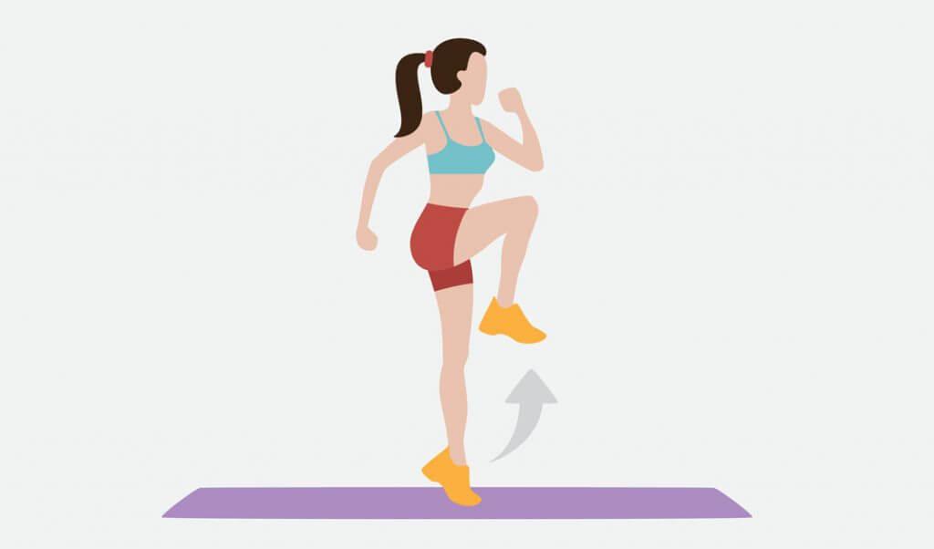 elevaciones de rodillas ejercicio
