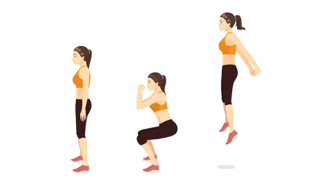 squat jumps técnica