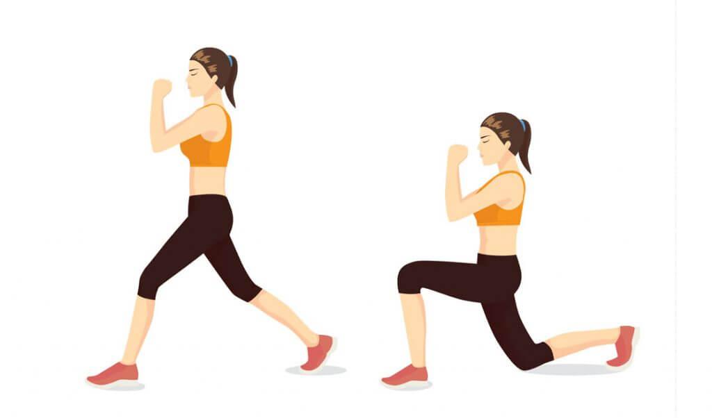 lunges técnica ejercicio