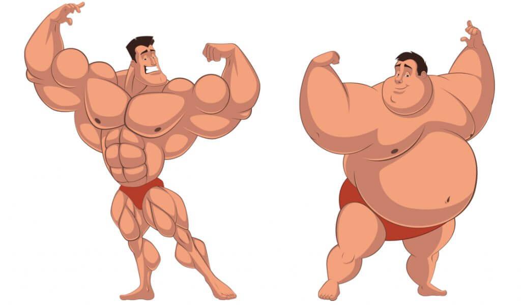 Personas con el mismo peso y diferente cuerpo