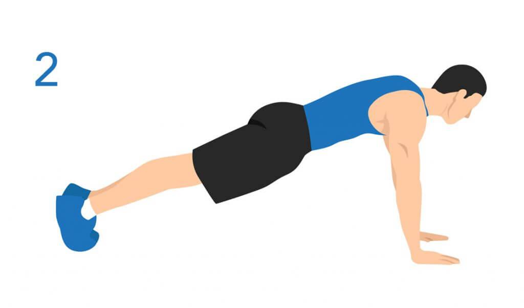 ejercicio de plancha o plank para reducir la cintura