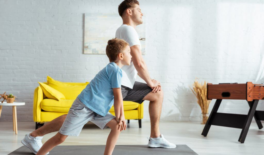 Lunges padre e hijo