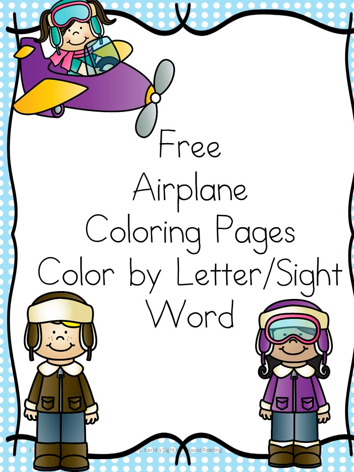 Does your child like airplanes? Here are some free Airplane Coloring Pages for you to print and enjoy. Color by Letter/Sight word included too!