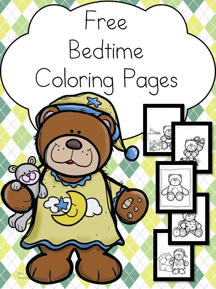 your child will enjoy these free bedtime coloring pages and children bedtime books before heading off