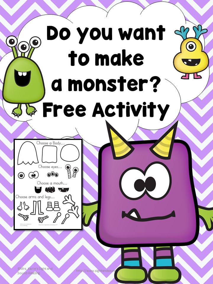 Do you want to make a monster? Early Learning Activity sponsored by Houghton Mifflin Harcourt