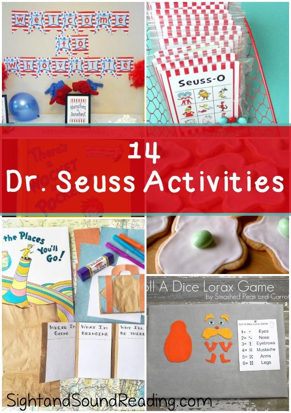 dr seuss preschool activities