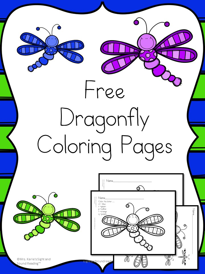 Dragonfly Coloring Pages Cute Fun And Free