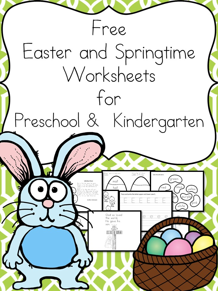 Easter phonics worksheets for kindergarten
