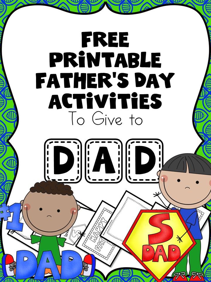 Free Fathers Day Worksheets for Kindergarten or Preschool – Dad Worksheets