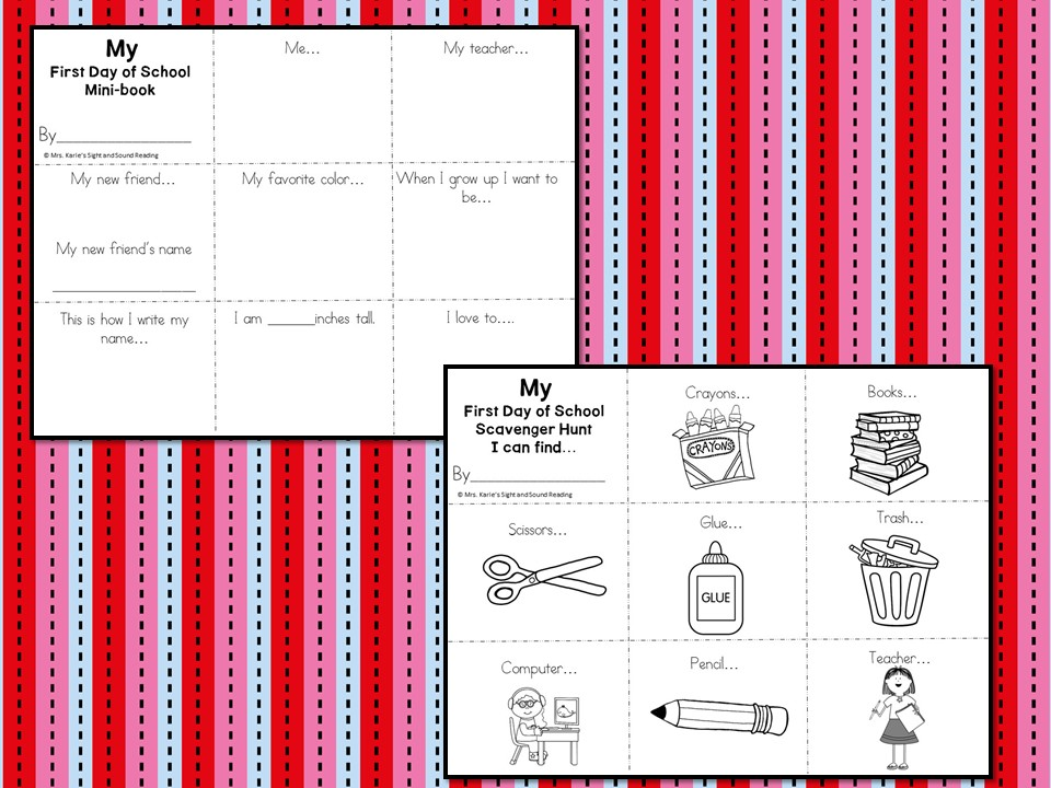 Kindergarten Back To School Interview Book And Scavenger Hunt