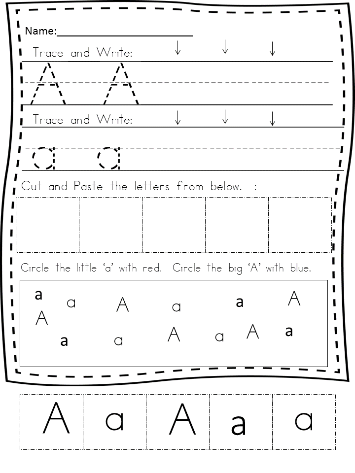 Handwriting Worksheets Free For Kindergarten