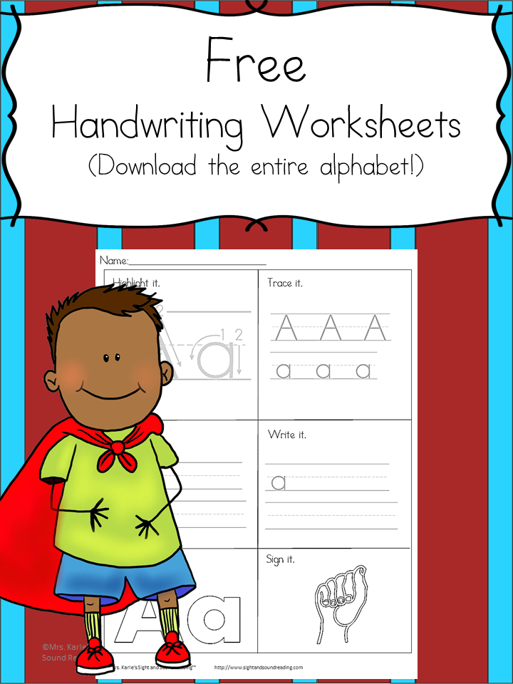 Printable Handwriting Worksheets for Kids | Mrs. Karles ...