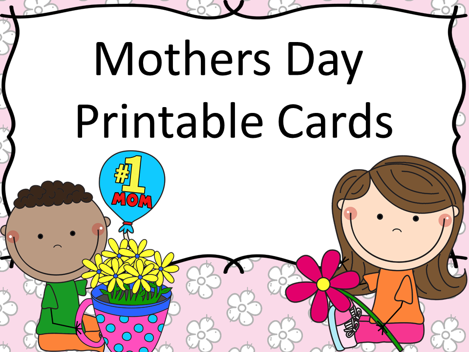 photograph relating to Printable Mothers Day Cards for Kids identified as Moms Working day printable playing cards