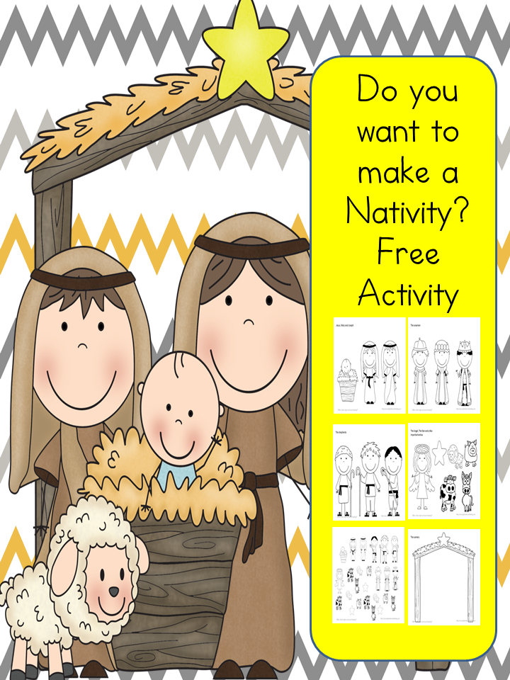 Do you want to build a Nativity? Fun free activity to make a Nativity! Cut and Paste and add to paper or make a puppet with popsicle sticks