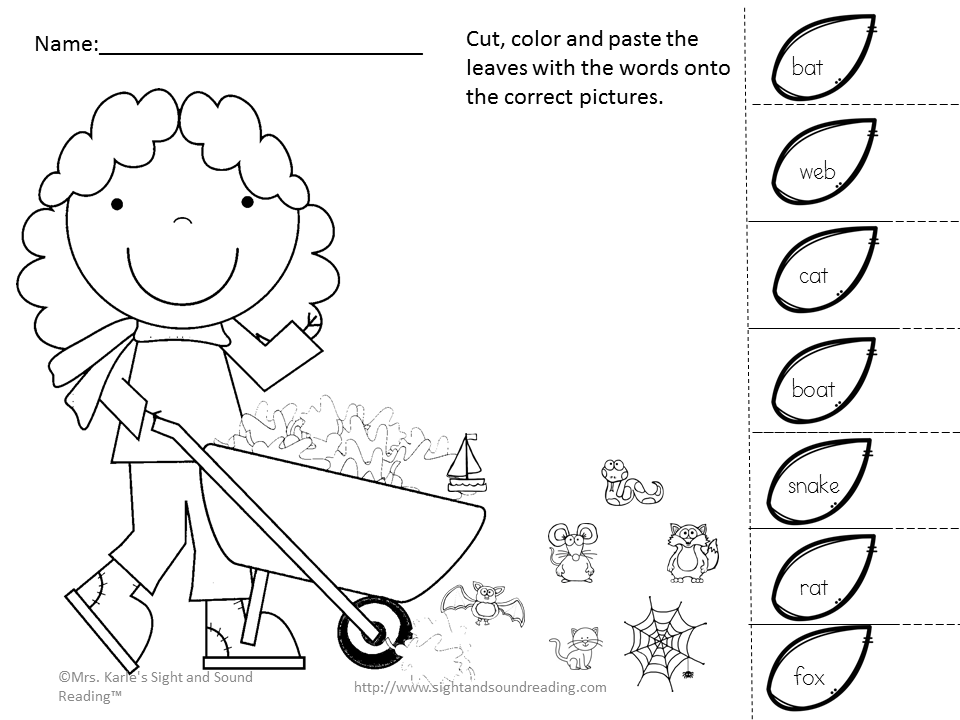 Cut And Paste Activity For Kindergarten: Learning Is Fun