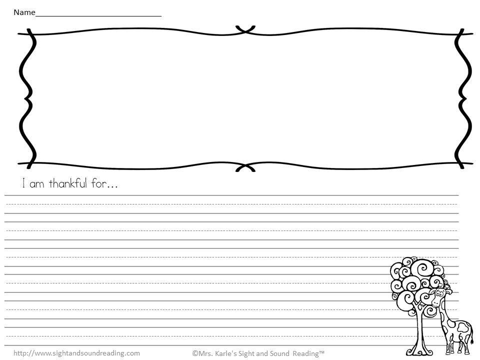 Gratitude Worksheets for Kids Teach children gratitude – I Am Thankful for Worksheets