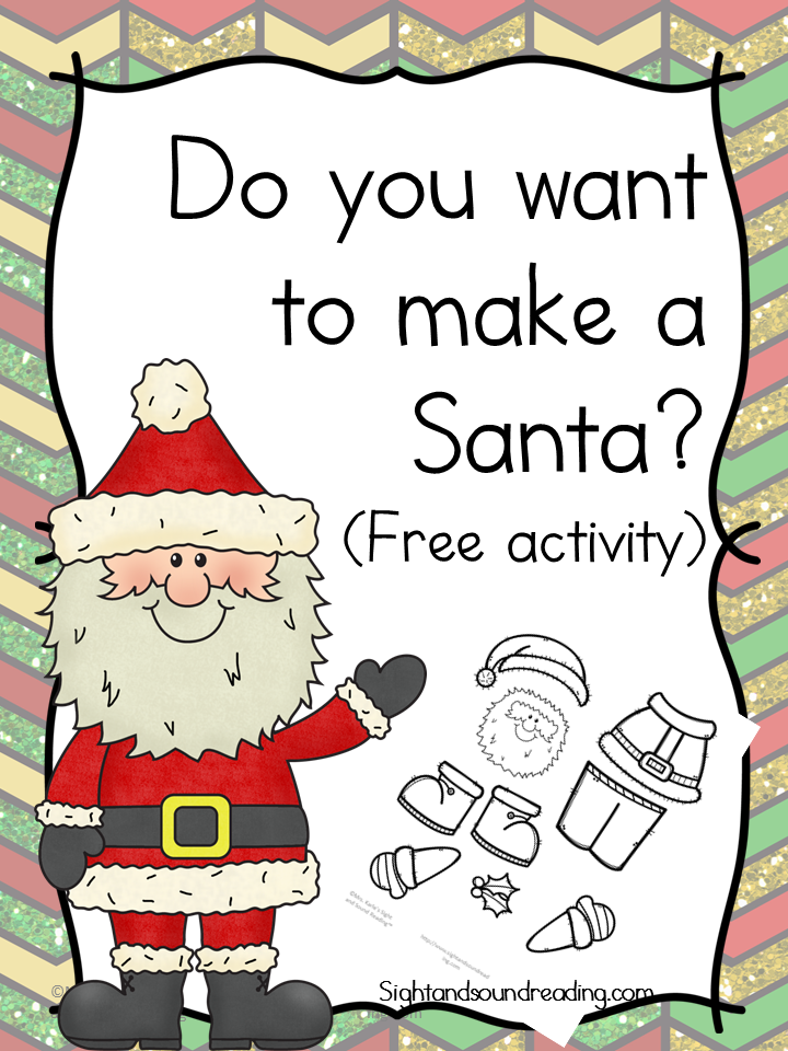 Do you want to make a Santa? You children will have fun with this free cut and paste activity.