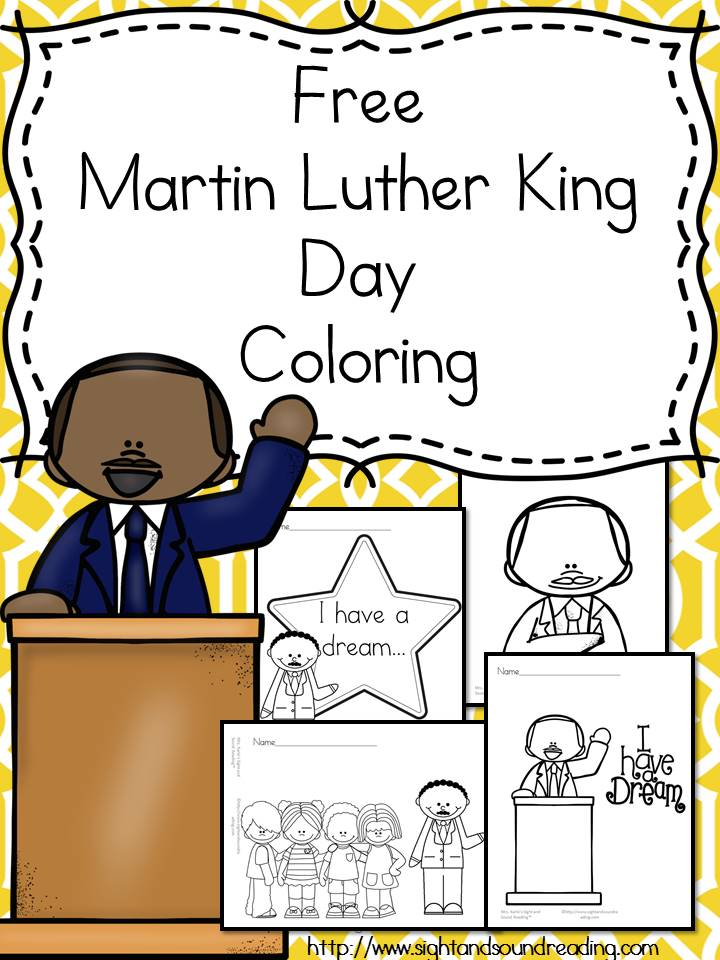 Help Teach Preschool And Kindergarten Students About Martin Luther King Jr Using These Free
