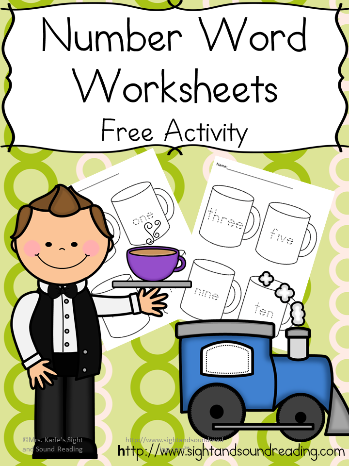 Number word worksheets: Help your student practice reading the number words with these cute hot cocoa themed worksheets.