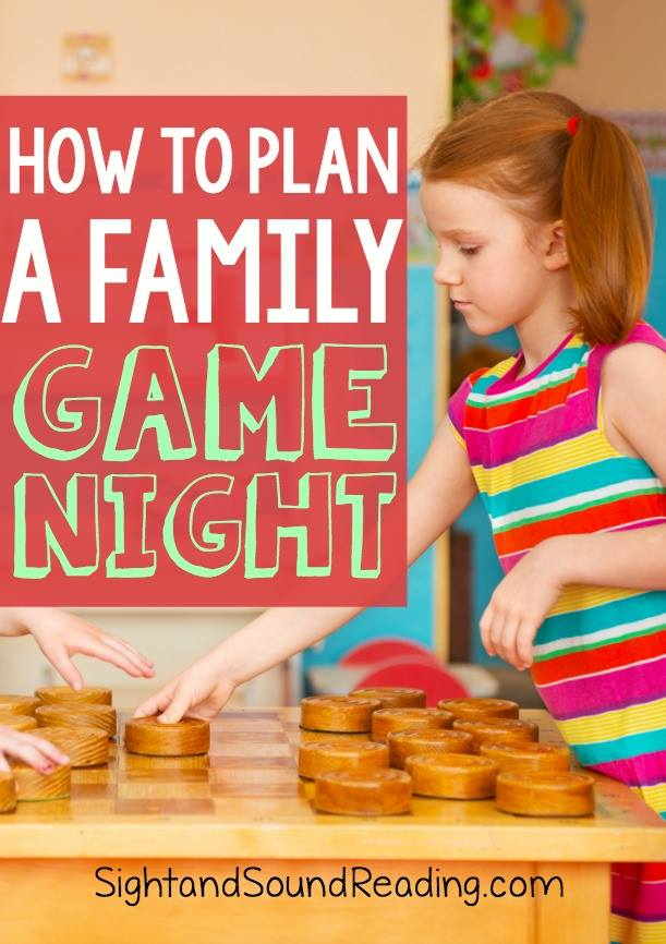 How to plan a family fun game night complete with game suggestions and rules for the evening.