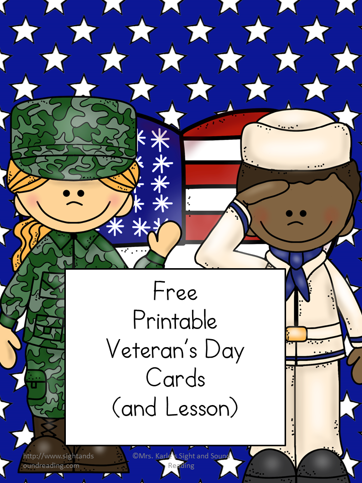 Printable Veteran's Day Card. Thank a member of the military or vet with these free printable cards for Veterans Day (or any day of the year).