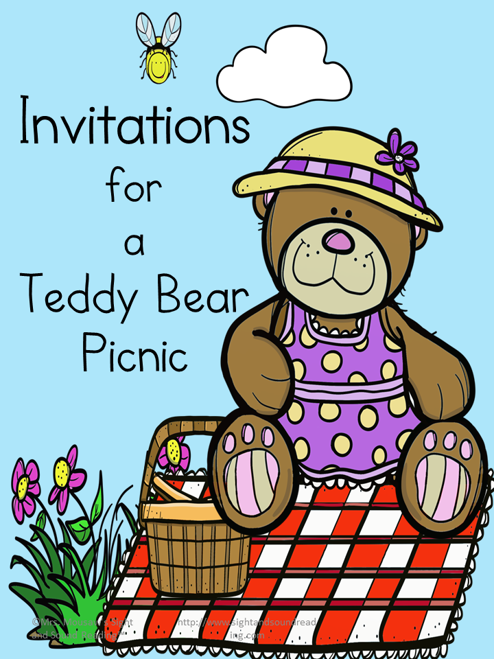 Teddy Bear Picnic Invitations – Cute, free,and printable.