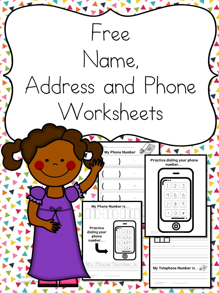 Name Address Phone Number Worksheets Free and Fun