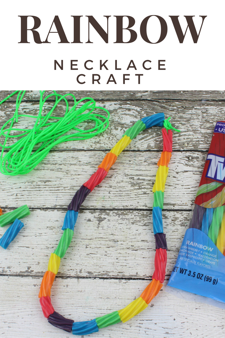 Preschool Rainbow Craft Necklace... Preschool and Kindergarten students will love this fun and easy craft that is perfect for spring.