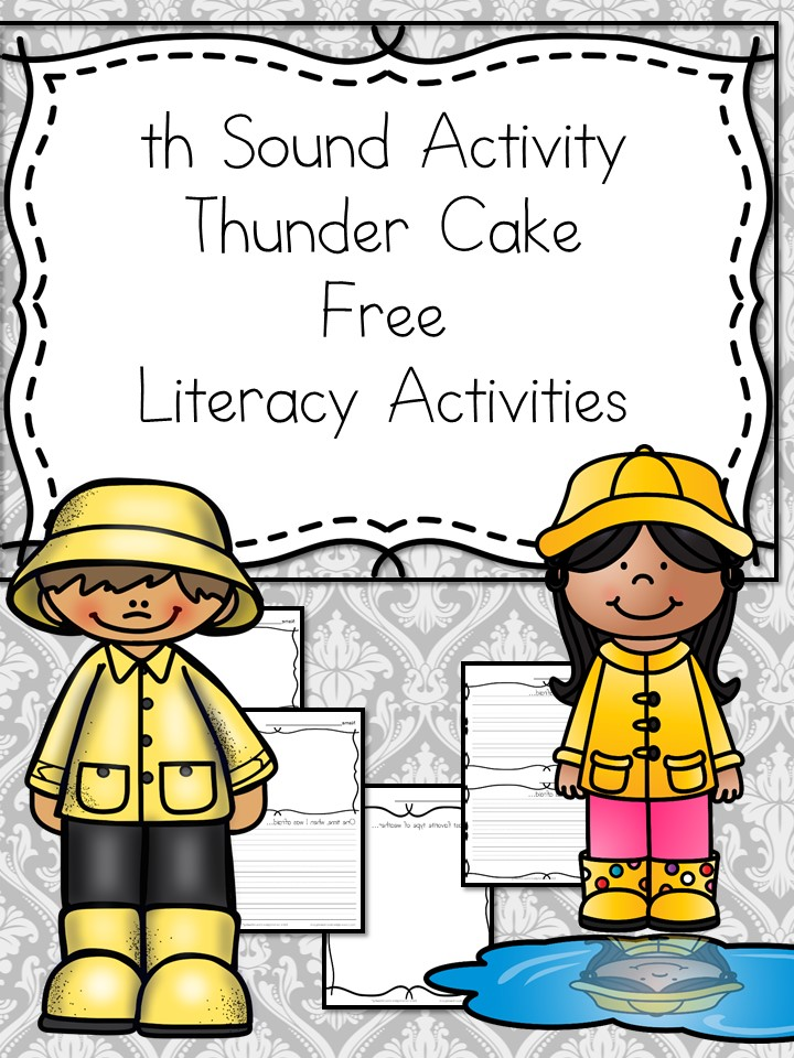 Thunder Cake Activities and FREE Printable Worksheet