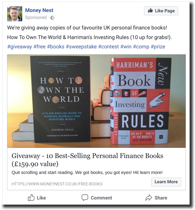 kingsumo blogpost viralgiveaways books