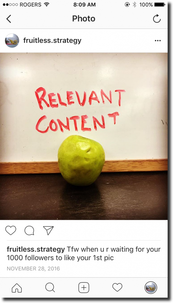 relevant content giveaway