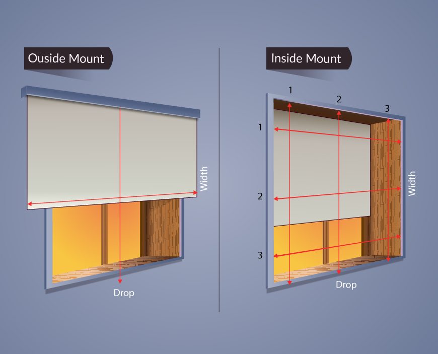 hang blinds inside mount vs outside mount